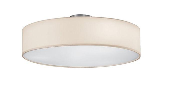Lampada Led Da Soffitto : Khl lampada led da soffitto con paralume in tessuto bianco