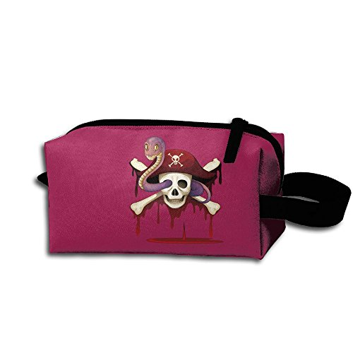 Makeup Cosmetic Bag Pirate Hat Zip Travel Portable Storage Pouch For Men Women]()