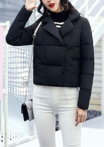 Warm Saoye Short Transition Schwarz Clothes Down Ladies Manica Lunga Outdoor Comodo Winter Fashion Colori Solidi Elegante Girl Coat H6Uwx1Hqr