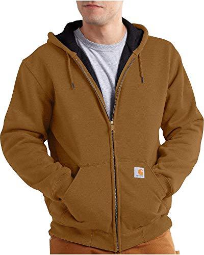 Carhartt Men's Rain Defender Rutland Thermal Lined Hooded Zip Front Sweatshirt 100632,Carhartt - Barn Sweatshirt
