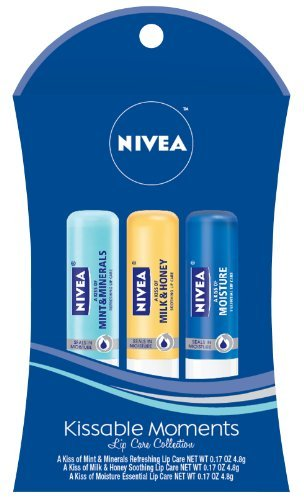 Nivea Lip Care 3 Piece Gift Set 2012, Moments Kissable