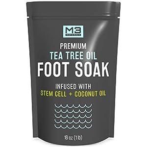M3-Naturals-Tea-Tree-Oil-Foot-Soak-Infused-with-Stem-Cell-and-Coconut-Oil-Epsom-Salt-for-Athletes-Foot-Stubborn-Odor-Calluses-Sore-Feet-Toenail-Fungus-Cracked-Heel-Bath-Spa-16-oz
