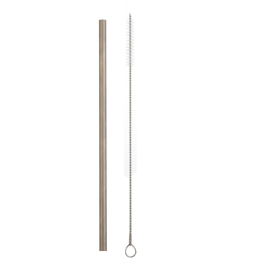 MacRoog Titanium Straw Drinking Straws with 1 Free Cleaner Brush Kitchen Tools Camping