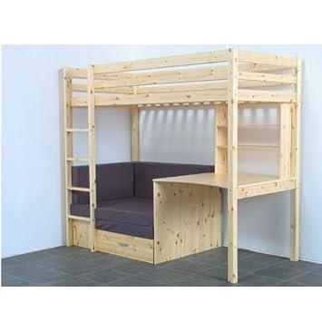 Thuka Hochbett 90x200 Kiefer Massiv Bett Kinderbett Gästebett