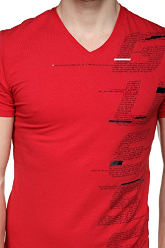Jeans T Guess Rosso shirt Uomo C512 q8Aat