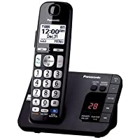 Panasonic KX-TGE230B DECT 6.0 Expandable Digital Cordless Answering System, 1 Handset, Black (Certified Refurbished)