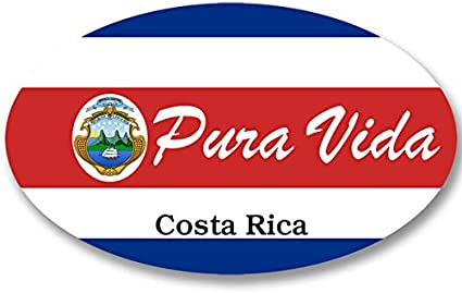 """Costa Rica Flag Car Bumper Sticker 5/"""" x 4/"""""""
