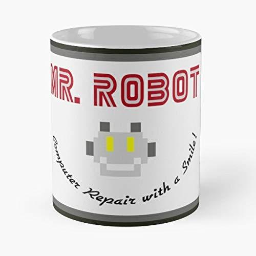 - Mr Robot Badge Logo Merch Cult Tv - Best Gift Ceramic Coffee Mugs