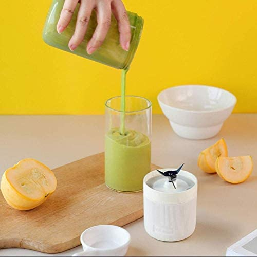 Batidora Pequeña Batidora Batidora Portátil Mini Fruit Juicer Cup Personal Infantil Máquina Mezcladora de Alimentos Usb Recargable Al Aire Libre 4 Cuchillas 400 Ml, O&YQ