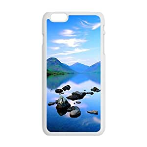 Personalized Creative Cell Phone Case For iphone 4 4s ,glam blue sky and river
