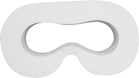 Lunies Disposable Hygiene Eye Mask with Sponge Mat and Magic Sticks Compatible for H-T-C Vive VR Virtual Reality Headset White