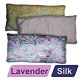 YogaAccessories (TM) Deluxe Silk Eye Pillow (Lavender) - Candle Light