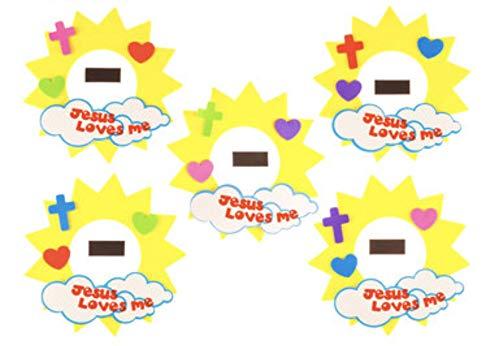 Jesus Loves Me Foam Sun Frame Craft Kit- Makes 24