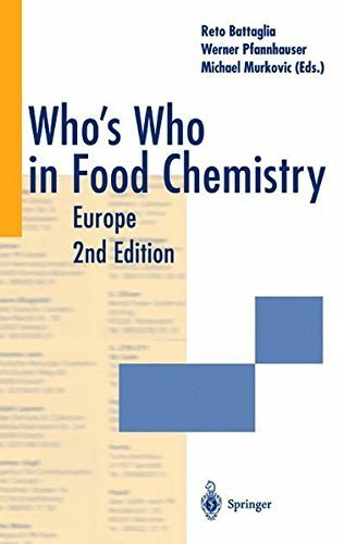 Download Who's Who in Food Chemistry Europe Pdf