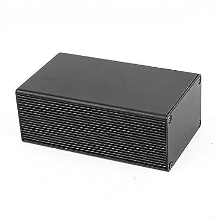 eDealMax aluminio electrónica de potencia bricolaje Junction Box 110x66x43mm Proyecto Negro