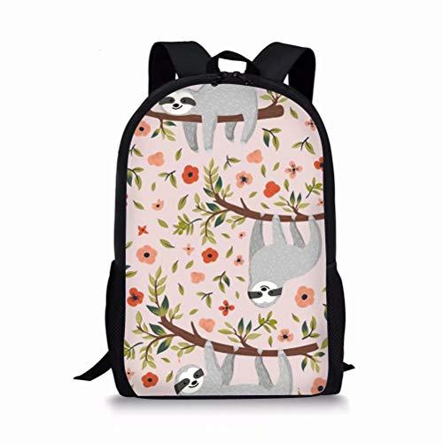 Cute Children School Bags Book Backpacks for Preschool Kindergarten Toddlers Sloth Design