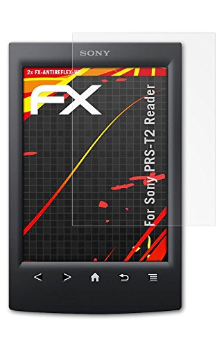 2 x atFoliX Folie Sony PRS-T2 Reader Displayfolie - FX-Antireflex-HD Entspiegelung für hochauflösende Displays