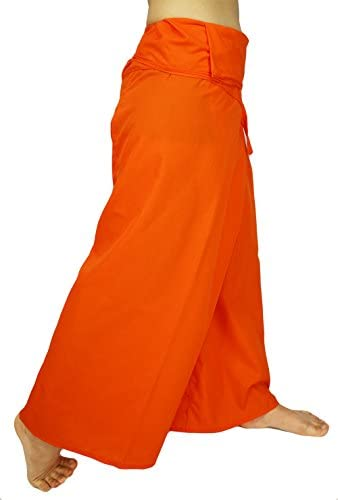Lovely Creations Jumbo Size Man Women Thai Fisherman Wrap Pants Toray Wild Leg Baggy Yoga Casual Trousers Waist 60″