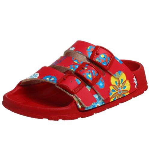 Birki's Toddler/Little Kid Sansibar Open Back Sandal,Cats And Flowers Red,26 N EU (US Toddler 8 N)