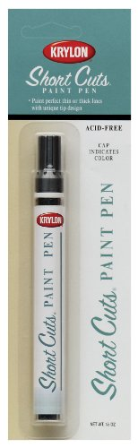 Krylon KSCP913 Short Cuts Paint Pen, Gloss White, .33 Ounce ()