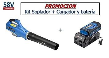 Hyundai - HY-LB8001-58V Set - Soplador Batería 58V (Cargador y batería incluidos)