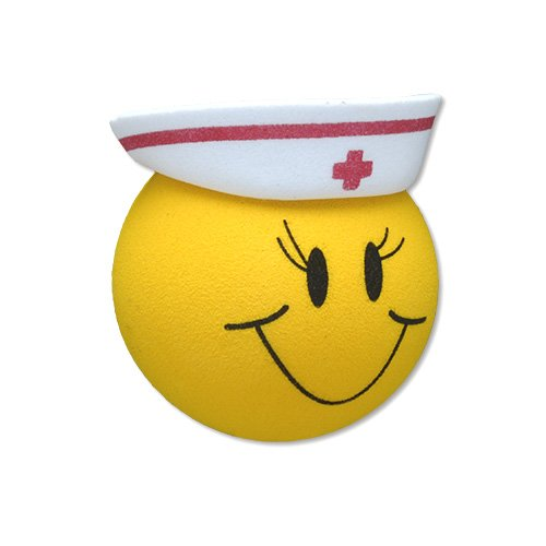 Quantity 2 pcs - Tenna Tops Happy RN Nurse Car Antenna Topper / Car Antenna Ball / Rear View Mirror Dangler