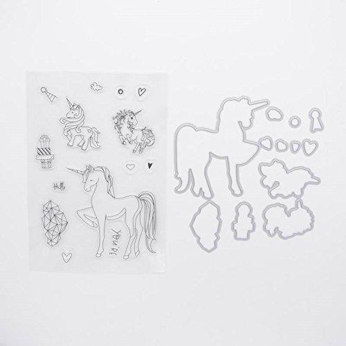 Welcome to Joyful Home Unicorn Metal Cutting Dies Stamp Stencils DIY Scrapbooking Photo Album Decor Cards Clear Stamp+Dies Cutting