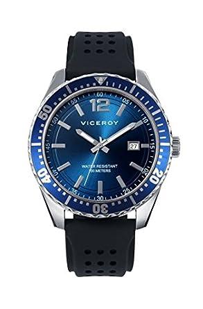 Viceroy Reloj Analogico para Hombre de Cuarzo con Correa en Silicona 40499-35: Amazon.es: Relojes