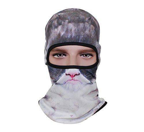 GANWAY Outdoor Hat Women 3D Animal Mask Sunscreen Headgear Cycling Balaclava Ski Cap (BBB19)