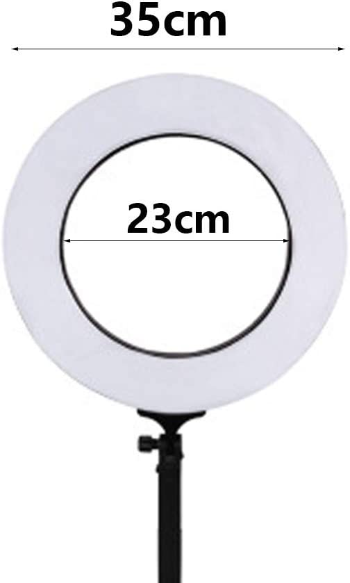 18//24Inch 2700K//5600K Bicolor Dimmable Lighting Kit with 78 Inch Light Stand Superbright Durable Adjustable Angle and Easy Assembly Ring Light LED