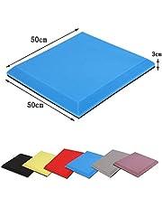 Wyujie Retardante de Llama Aislamiento acústico de Espuma de Aislamiento acústico de Juego Auto-Adhesivo Puede Ruido Disminuye 50 PCS 50X50cm,Azul,Nonflammable