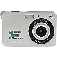 Instant Camera, SANNYSIS 18 Mega Pixels 3.0MP CMOS sensor 2.7 inch TFT LCD Screen HD 720P Digital Camera Silvery