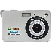Instant Camera, SANNYSIS 18 Mega Pixels 3.0MP CMOS sensor 2.7 inch TFT LCD Screen HD 720P Digital Camera Silvery