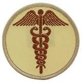 EagleEmblems PM3958 Patch-Medic,Caduceus (Desert) (3'')