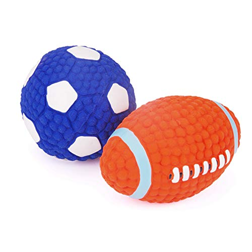 EETOYS Soft Bouncing Latex Squeaky Floating Toy Fetch Throw Ball For -