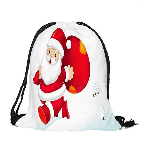 ✈ HYIRI Merry Christmas Bag Satchel Bundle Pocket Storage Bag