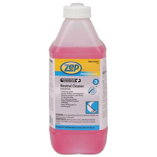 Zep Professional Advantage+ Concentrated Neutral Floor Cleaner, 2L Bottle - Includes four bottles.