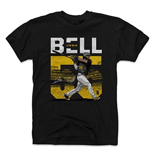 (500 LEVEL Josh Bell Cotton Shirt Large Black - Pittsburgh Baseball Men's Apparel - Josh Bell Stadium Y WHT)