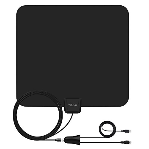 HDTV Antenna - 50 Mile Range with Detachable Amplifier Signal Booster - Indoor 1080P Indoor Digital TV HD Antenna - 13.2ft Coax Cable - USB Power Supply - Upgraded Version Better Reception