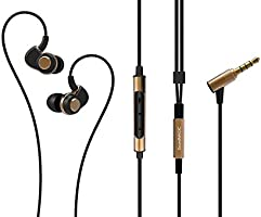 SoundMAGIC PL30+C In-Ear Headphones with Mic (Black Gold)