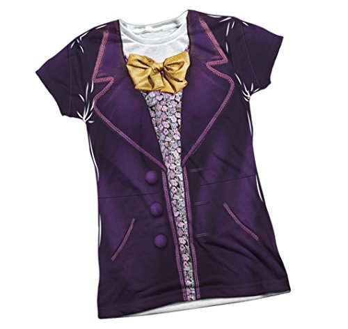 Wonka Costume -- Willy Wonka And The... Front Print Juniors T-Shirt, X-Large (Willy Wonka Womens Costume)