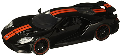 Jada 1: 24 - Metals - Bigtime Muscle - 2017 Ford Gt (Black with Red Stripes) Diecast Vehicle (Bigtime Muscle Cars)