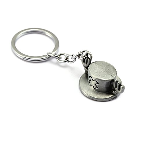 Raleighsee One Piece Anime Tony Tony Chopper Reindeer Ship Doctor Pendant Keychain Novelty Metal Key Ring Bag Accessory Unisex Anime Fans Gift( Ancient Silver)