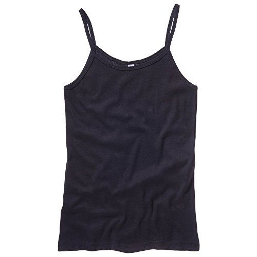 Bella Canvas Baby Rib Spaghetti Strap Tank Top Black M