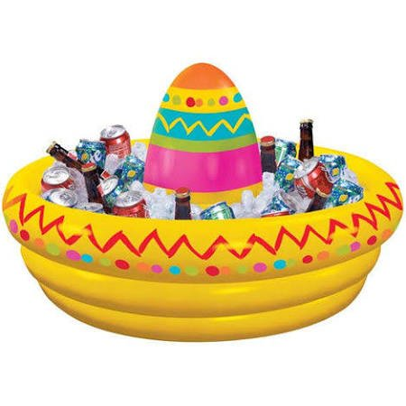 Inflatable Sombrero - Fiesta Sombrero Inflatable Cooler Birthday Party Supplies Decoration