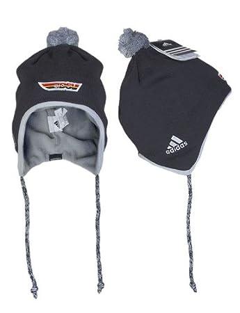 Adidas W67028 Unisex DSV Ski Beanie Hat With Bobble Ski Hat Black ... a7e1ceb2d83