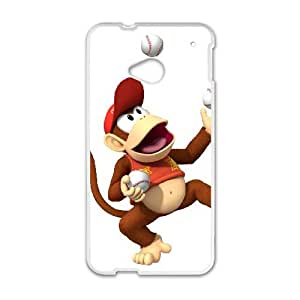 HTC One M7 Cell Phone Case White Super Smash Bros Diddy Kong LSO7922245