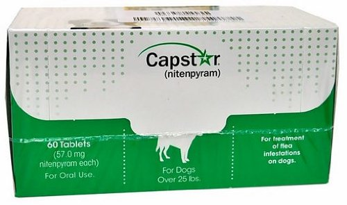 CAPSTAR Green FAST ACTING for Dogs Over 25 lbs. (60 Tabs) by Novartis