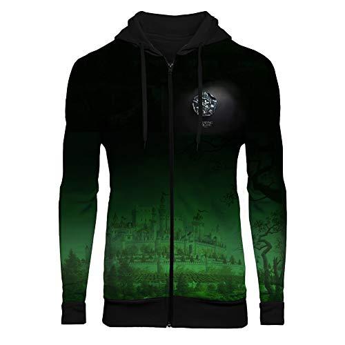 Unisex 3D Realistic Printed Hoodie Novelty Hooded Sweatshirt Zipper Coat Jacket XL
