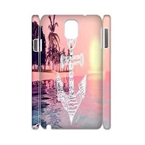 Qxhu Anchor Aztec Hard Plastic Back Protective case for Samsung galaxy Note3 N9000 3D case